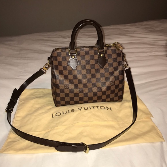 bd5b1dd87fa4 Louis Vuitton Handbags - Louis Vuitton Speedy Bandouliere 25 Bag Damier E